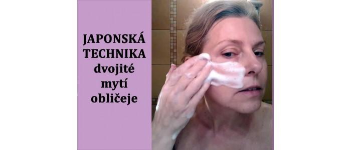 Japonská technika mytí obličeje